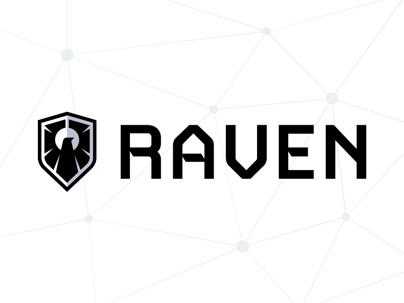 Raven Concept Logo refined tech crest shield logo surveillance bird raven