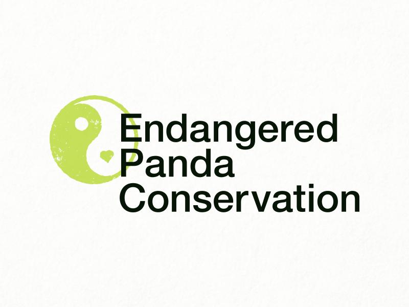 Panda Logo - Daily Logo Challenge #03 endangered panda conservation conservation logo panda challenge daily logo