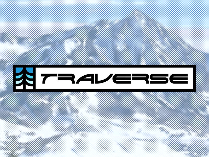 Ski Mountain Logo - Daily Logo Challenge #08 lines snowboard traverse mountain daily logo challenge ski logo daily logo