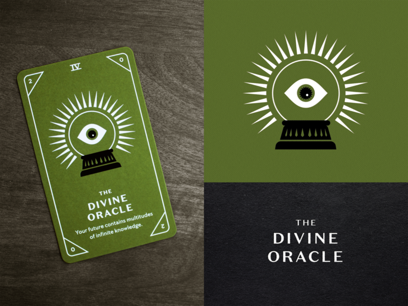 KNOCK Tarot  |  The Divine Oracle playing card orb future illustration eye foil foil stamp seer oracle