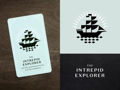 KNOCK Tarot | The Intrepid Explorer explorer explore flag waves water sails boat ship playing card tarot card tarot card