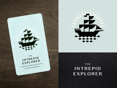 KNOCK Tarot | The Intrepid Explorer explorer explore flag waves water sails boat ship playing card tarot card tarot card