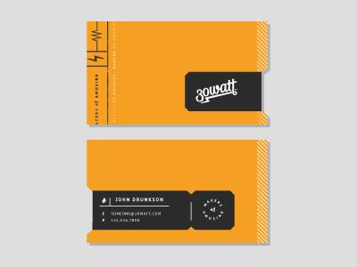 30 Watt Business Cards watt business card business cards 30 amusing orange sticker lightning bolt