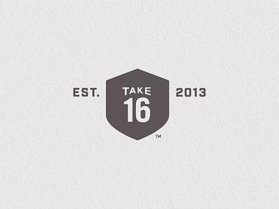 Take 16 Secondary Mark mark road sign brewery logo shield established etd est take 16