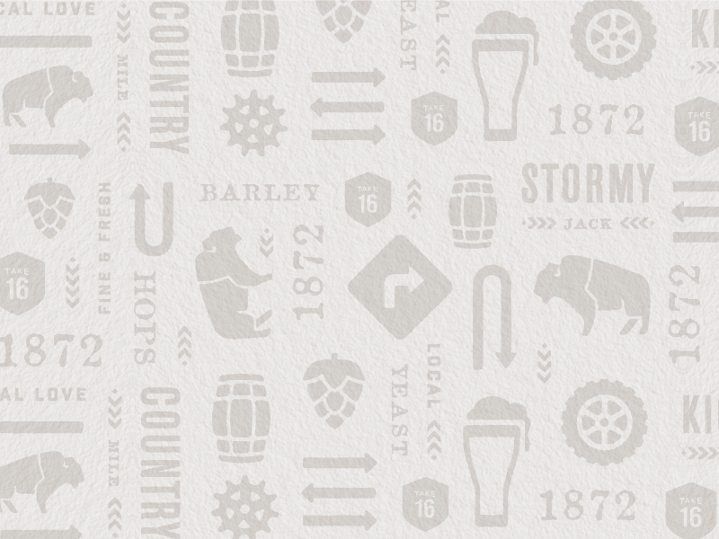 Take 16 Pattern yeast barley drinking arrows barrels hops tires buffalo road signs beer brewery pattern