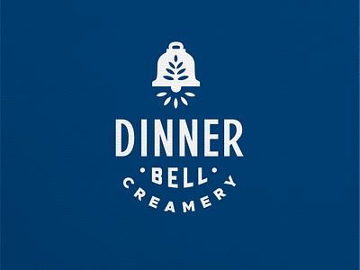 Dinner Bell Mark mark blue brand design logo design identity branding brand logo sandinavian badge ring bell dinner creamery