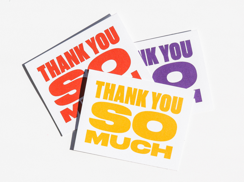 thank you so much greeting card thank you thank you card