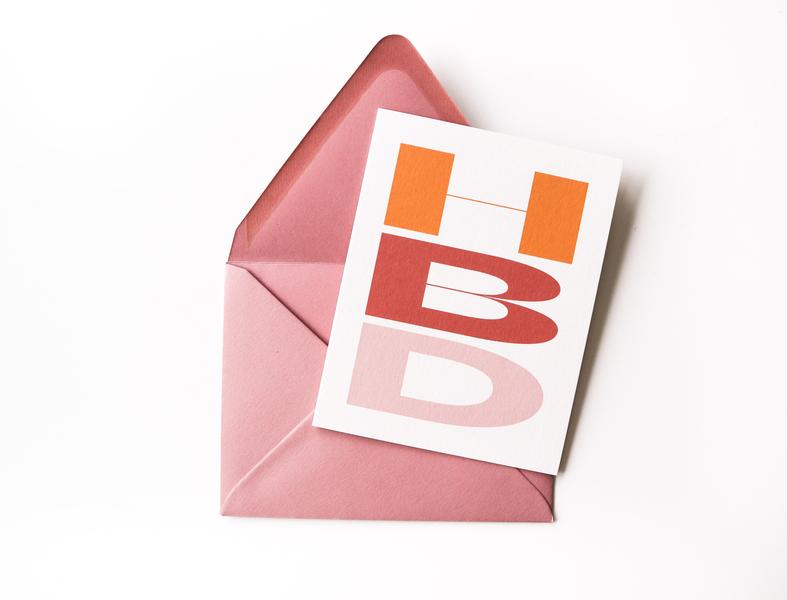HBD Birthday Card graphic design typography beatrice hbd greeting card birthday card birthday