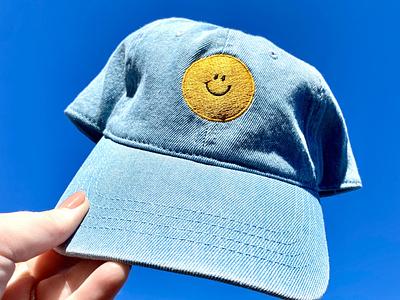 Smiley Face Embroidered Denim Hat baseball hat cap merchandise apparel denim hat
