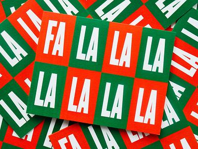 Fa La La Greeting Card winter holiday season christmas illustration pattern greeting card design stationery