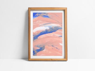 Pink Paint Strokes fine art paint strokes gouache acrylics painting