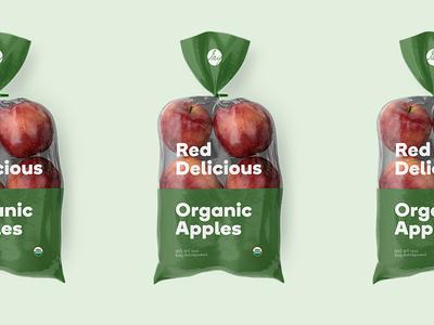 Farm Market Apple Bags event branding red delicious bedford john jay organic farm market apples