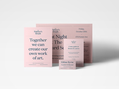 Printed Collateral for The Painter's Brush