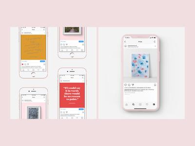 Instagram Guidelines for The Painter's Brush fine art iphone typography brand event new york branding design social posts social media instagram