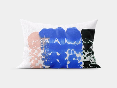 New In Good Order Pillow bedding home decor etsy pillow fine art paint strokes gouache acrylics painting