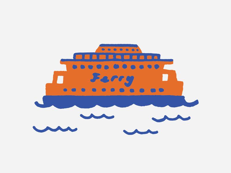 Staten Island Ferry design vector new york boat nyc staten island ferry staten island illustration