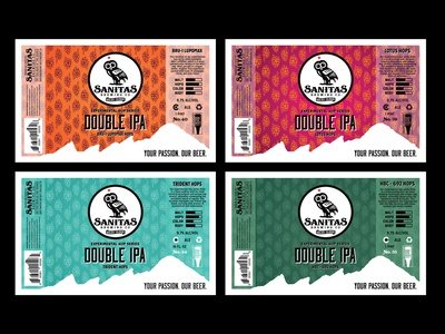 Sanitas Brewing Co. Double IPA Label can brewery beer packaging design design branding graphic  design