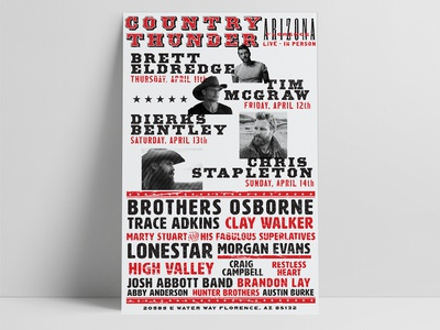 Letterpress Style Country Music Poster
