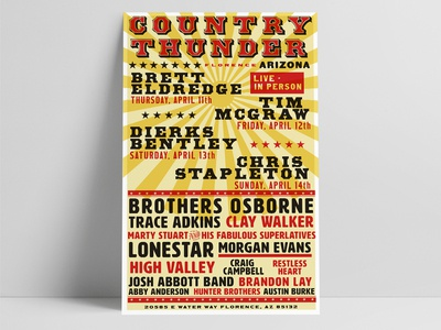 Letterpress Style Country Music Event Poster