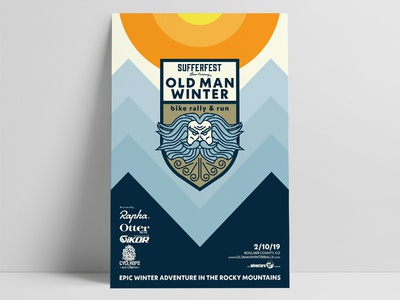 Old Man Winter Bike Rally and Run Poster