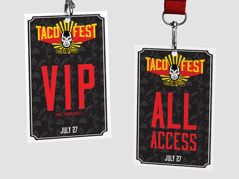 Boulder Taco Fest Badges typography events beer brewery packaging design design branding graphic  design