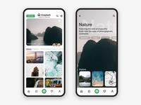 Unsplash app concept redesign
