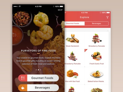 Dining mobile app delicious restaurant mobile onboarding ux ui flat food dining ios app