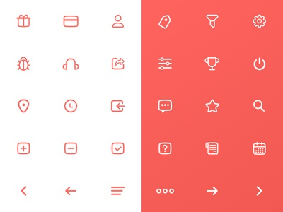 Icon set for loyalty app sketchapp flaticons iconography lineicon iconset icons