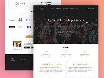 Landing Page - Loyalty Program simple web landing page landingpage clean minimal product loyalty ux ui