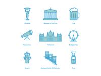 Budapest icon set