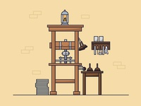 Old printery (board game illustration)