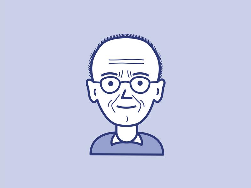 Erik Spiekermann (board game figure) board game design character design illustration minimal vector adobe illustrator