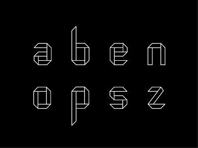 Origam modular font font origami modular font font design typography vector adobe illustrator