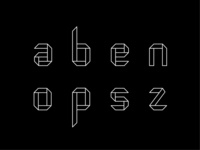 Origam modular font