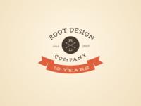 Root Design Company Anniversary Logo 1