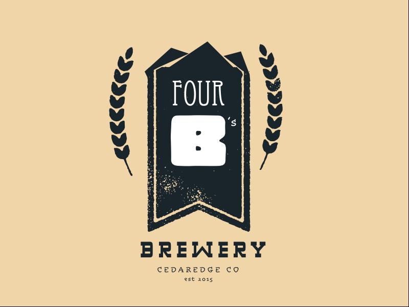 4B's Brewery 4 logo
