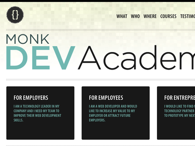 Monk Dev Academy responsive clean