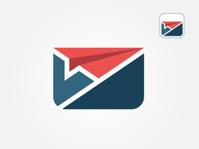 Emailing email app chat icon logo branding