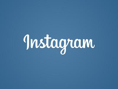 Instagram Logo logo identity branding instagram logotype wordmark typography script lettering
