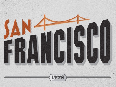 SF illustration typography on the move
