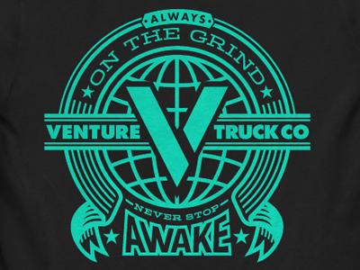 Worldwide venture trucks shirt illustration