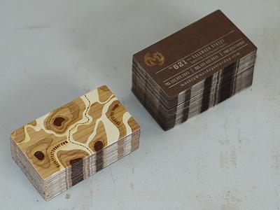 New Business Cards business card letterpress laser etch wood paper metallic ink duplex