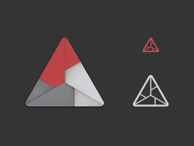Folds logo identity origami triangle reject