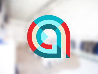 a logo logo a geometric type