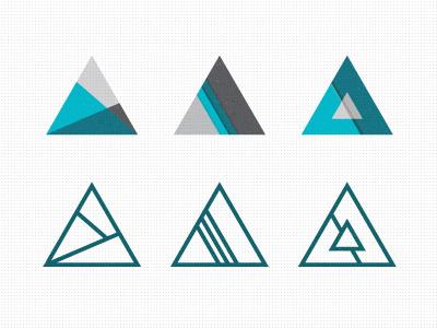 Tri Explorations logo triangle geometric branding identity