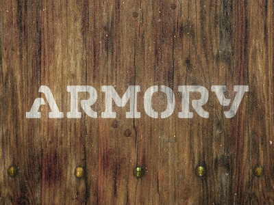 Armory logo identity branding typography