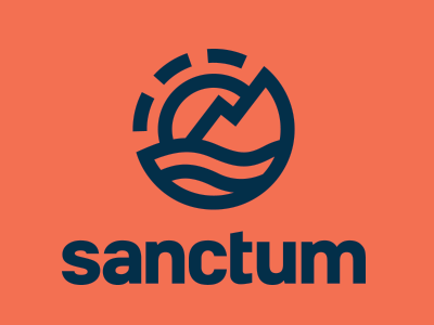 sanctum logo identity branding icon typography logotype logomark