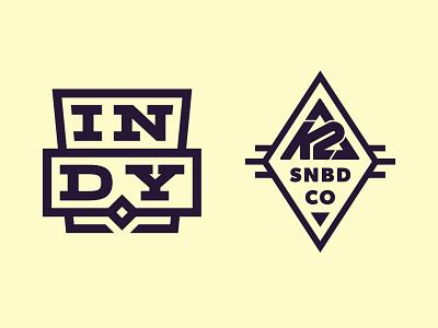 K2 Indy braniding identity icon logo snowboard binding