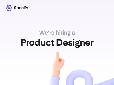We're hiring a product designer! productivity tools developer tools design tools saas startup designer product designer job role hiring