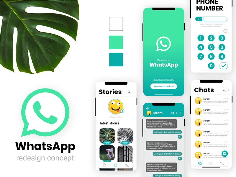 WhatsApp redesign concept redesign concept redesign whatsapp redesign user experience user interface design ux ui whatsapp